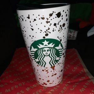 New! Holiday gold flake ceramic RARE winter 2019